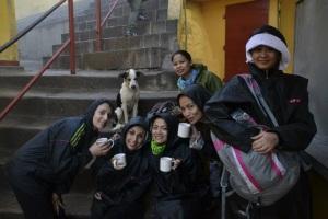 Coffee break at the peak