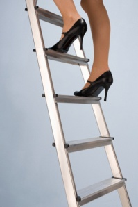 I can climb up and down whenever I like with my ladder!